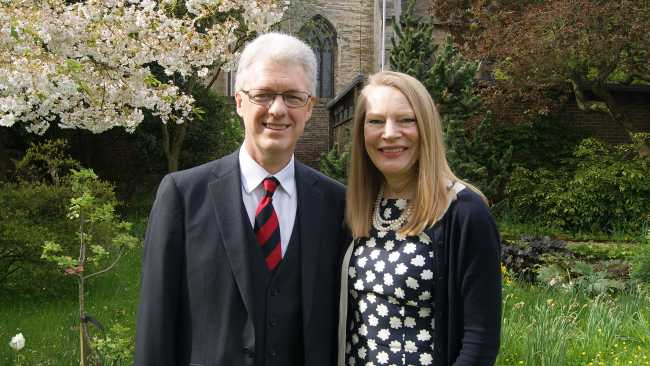 Image ofProfessor Ian White says farewell to Jesus College