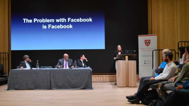 Image ofFacebook under scrutiny at Intellectual Forum event