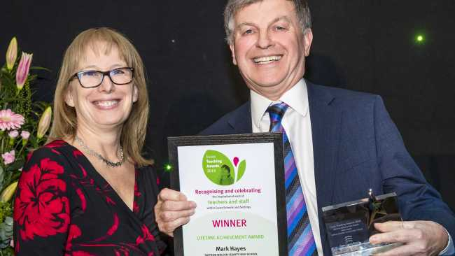 Image ofMark Hayes wins Lifetime Achievement Award at the Essex Teaching Awards 2019