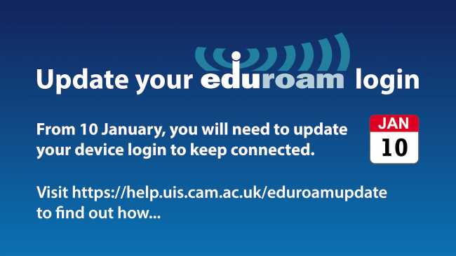 Image ofUpdate your Eduroam login