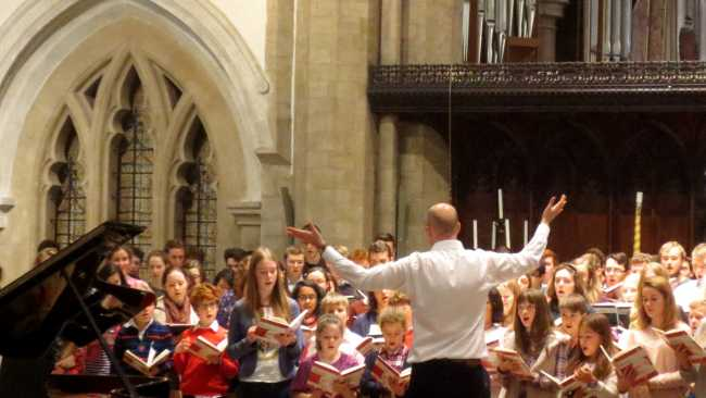 Image ofMark Williams' final orchestral concert with the Jesus College choirs