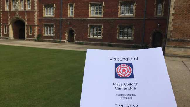 Image ofQuality in Tourism award a 5 star rating for our campus accommodation