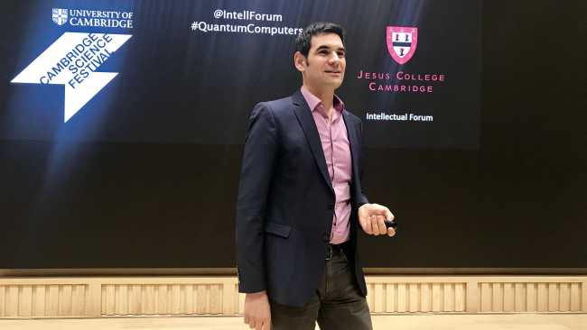 Image ofThe world of quantum computers: Jesus Fellow gives Science Festival lecture to packed audience