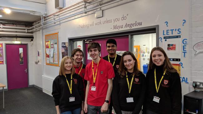 Image ofStudent ambassadors visit North East schools