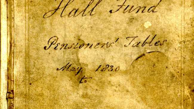 Image ofArchive of the month: The pensioners' tables Hall fund