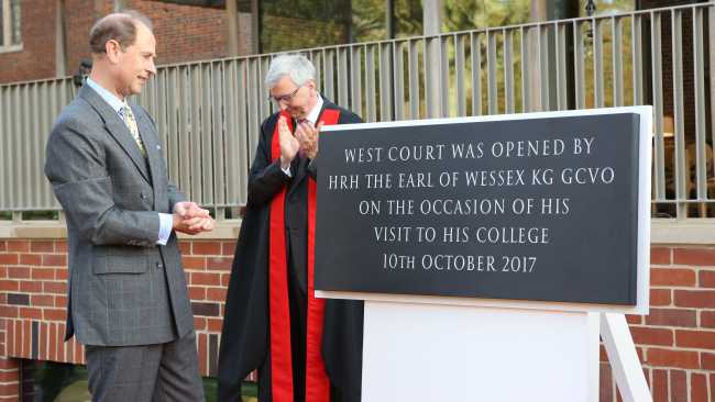 Image ofHRH The Earl of Wessex officially opens West Court