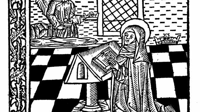 Image of Engraving of St Radegund