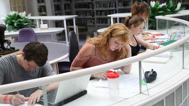 Image of Students in the Quincentenary Library