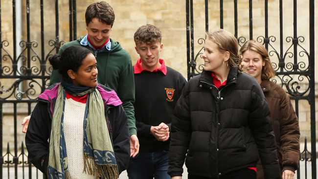 Image of Students in the Chimney