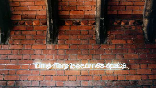Image of Time here becomes space by Cerith Wyn Evans