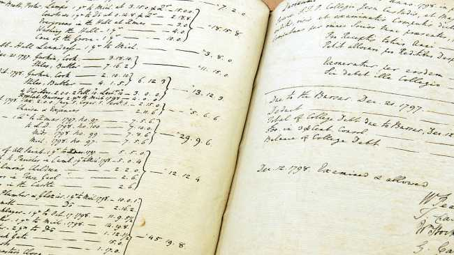 Image of College accounts 1798