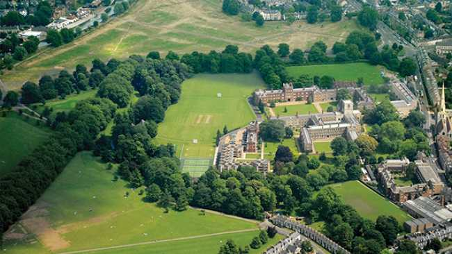 Image of Aerial photograph of Jesus College