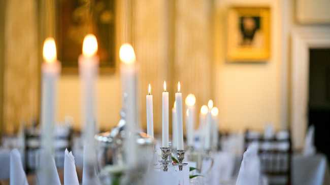 Image of Photo of candles in Hall