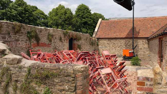 Image of Untitled: stacked chairs by Phyllida Barlow
