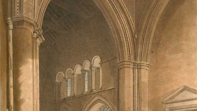 Image of Jesus College Chapel by Ackermann 1815