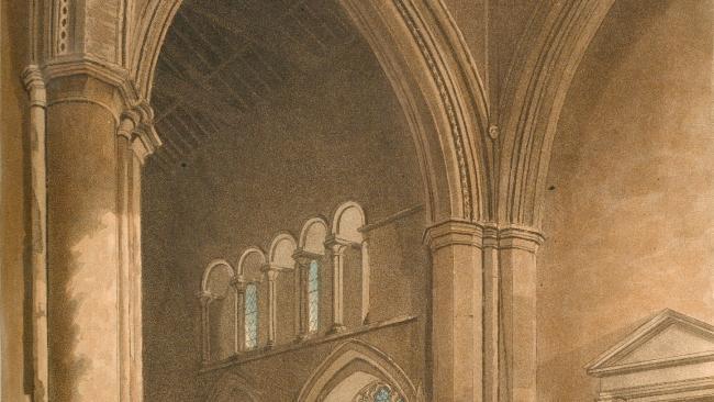 Image of Jesus College Chapel by Ackermann 1815