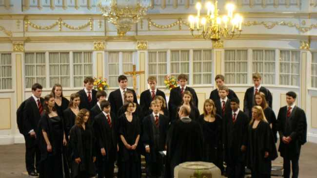 Image of Mixed Choir singing in Backirche Arnstadt