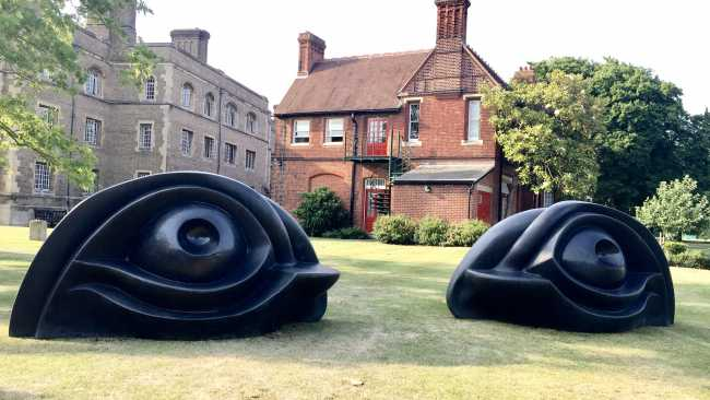 Image of Eye Benches sculpture by Louise Bourgeois