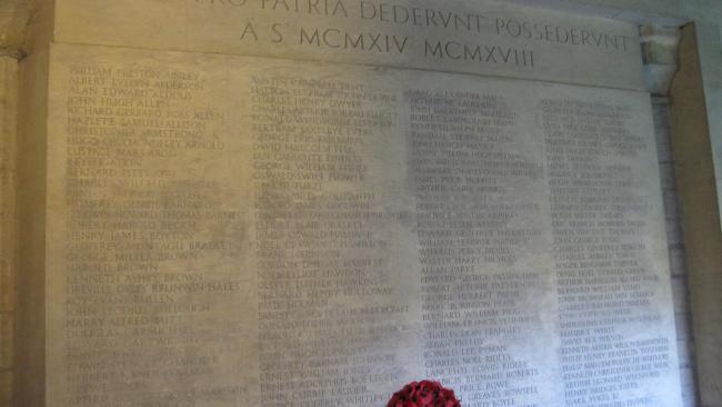 Image of Jesus College war memorial