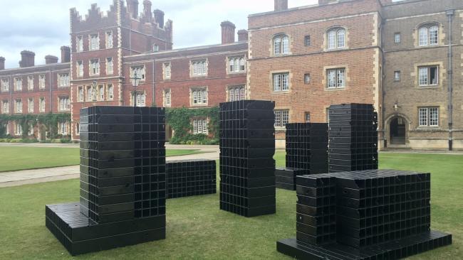 Image of Steel sculpture installation