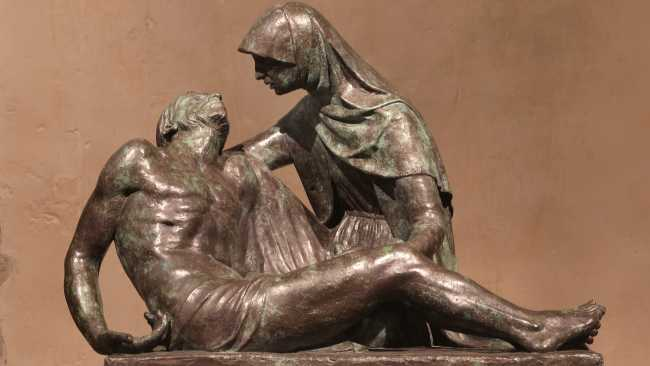 Image of Detail of Pietà