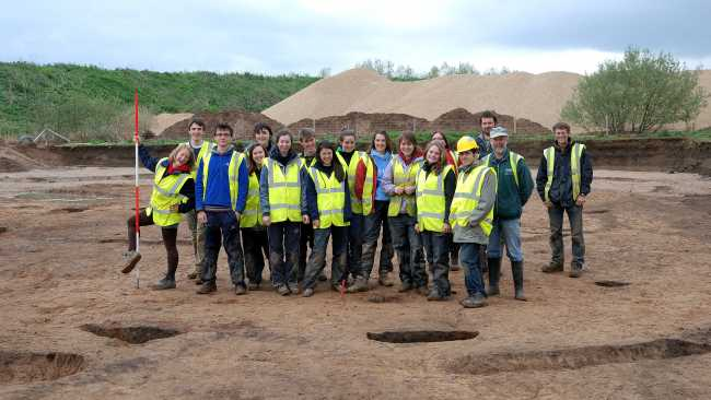Image of Archaeology students