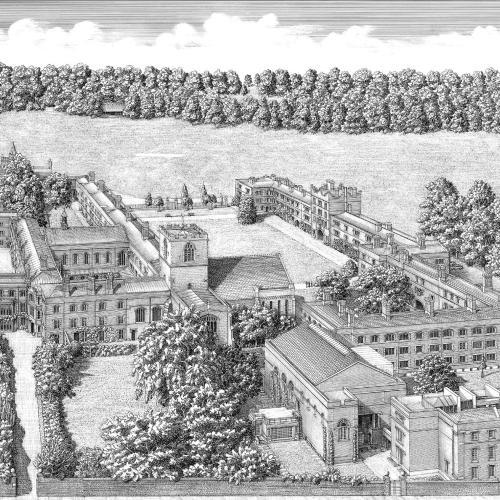 Image of Jesus College c. 1688