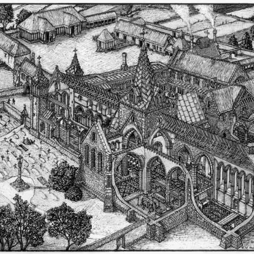 Image of Reconstruction of The Priory of St Mary and St Radegund
